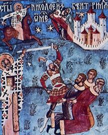 Святитель Николай останавливает руку палача