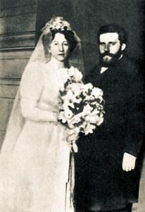 М. Волошин и М. Сабашникова в день свадьбы