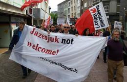Встреча Яценюка в Германии