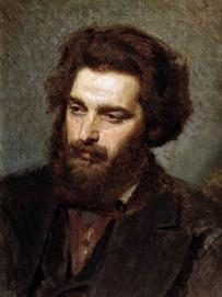 Иван Крамской. Портрет А. И. Куинджи. 1872 г.