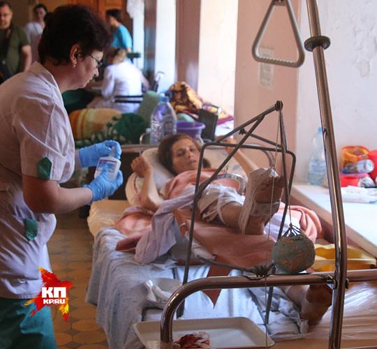 В больнице Славянска много раненых