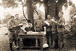 Иеромонах о. Евтихий (Тулупов) с воинами 289-го Коротоякского полка