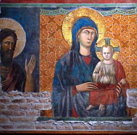 Фрагмент фрески Пьетро Каваллини