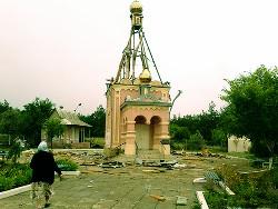 Разрушенная нацгвардией церковь в Краснодоне