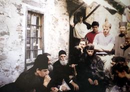 Старец Паисий Святогорец с паломниками на Афоне