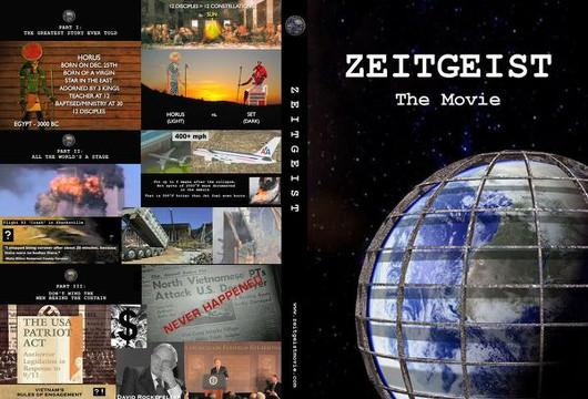 Обложка DVD-диска с фильмом «Дух времени» («Zeitgeist»)
