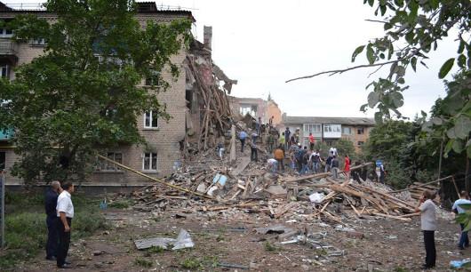 Последствия авиаударов украинских войск