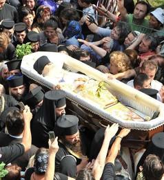 Похороны архим. Арсения (Папачока)