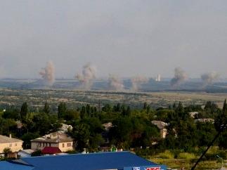 Обстрел города Кировское украинскими силовиками