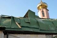 Храм Иоанна Кронштадтского после обстрела нацгвардией