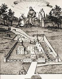 Беседный монастырь. Гравюра. Шелковникова. 1813 г.