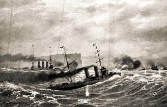 Бой английского крейсера с германскими миноносцами