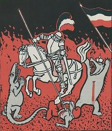 Немецкий рыцарь поражает врагов