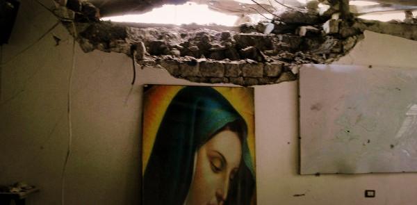 Разрушенный православный храм в Сирии