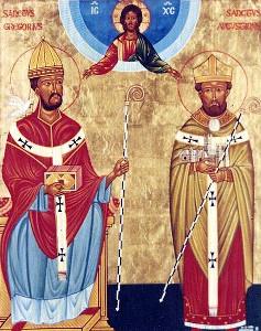 Святители Григорий Великий и Августин Кентерберийский