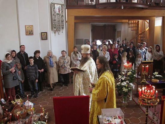 Богослужение Великой Субботы в кафедральном соборе Кирилла и Мефодия
