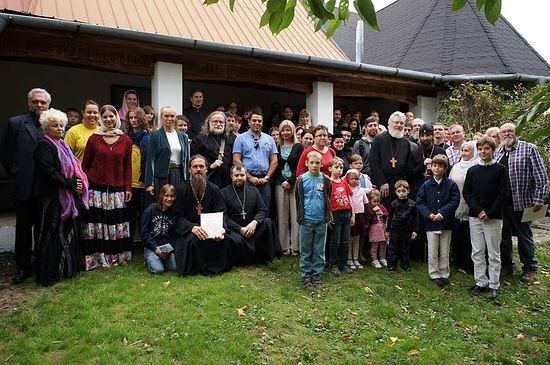 Архиепископ Иоаким с духовенством и прихожанами Моравской епархии Чешской Православной Церкви в монастыре священномученика Горазда