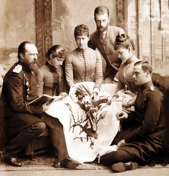 Великокняжеская чета в гостях у дармштадтских родственников
