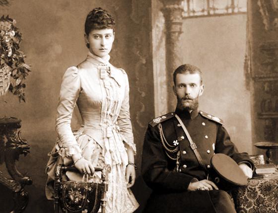 Супруги великий князь Сергей Александрович и великая княгиня Елизавета Федоровна. 1884 г.