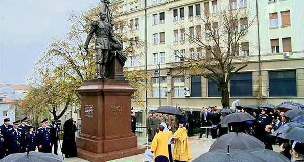Освящение памятника императору Николаю II в центре Белграда