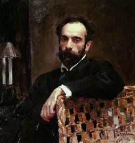 Портрет художника И. И. Левитана, В. А. Серов. 1893 г.