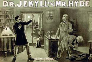 Иллюстрация к роману Стивенсона «Странная история доктара Джекила и мистера Хайда»