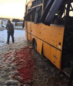 Расстреляный автобус в Волновахе