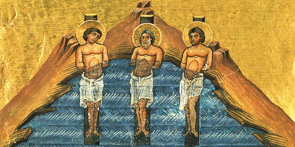 Святые Инна, Пинна, Римма. Миниатюра минология Василия II