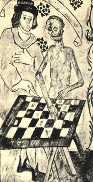 Игра со Смертью. Фреска-аллегория храма в Таэби в Швеции работы Альберта Пиктора, вторая половина XV века