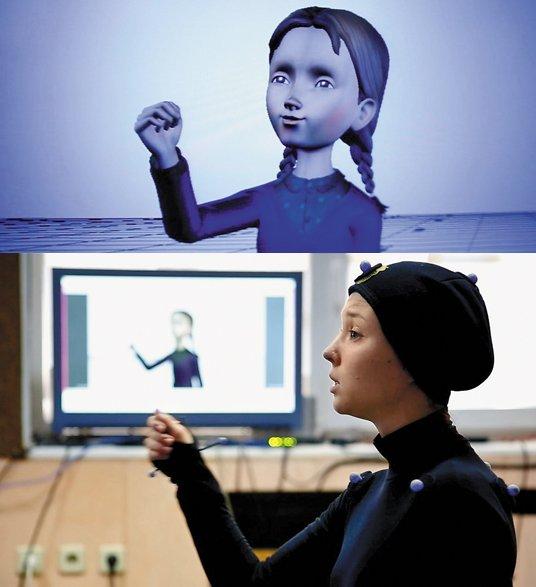 Технология Motion Capture — движения актрисы переносятся на модель персонажа