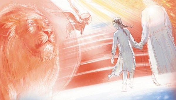 Эскиз к эпизоду — преподобный Серафим ведет Симу в Царствие Небесное
