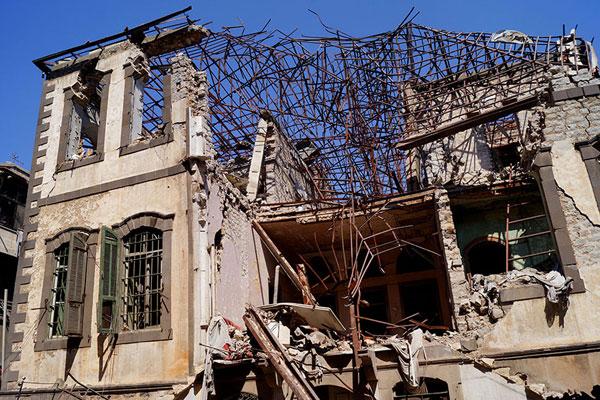 Хомс. Один из так называемых «дворцов» Старого города, пострадавший в результате боев