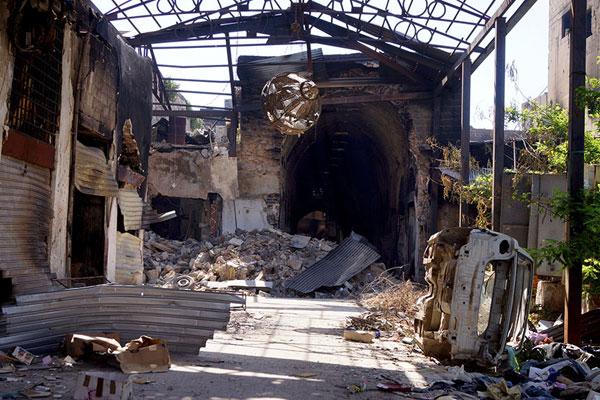 Хомс. Рынки Старого города достаточно серьезно пострадали в результате боев