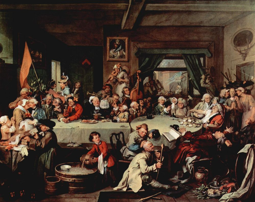 Верните нам наши одиннадцать дней! Уильям Хогарт, 1755 г.