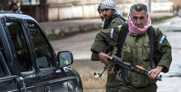 Бойцы ассирийских отрядов самообороны «Суторо»