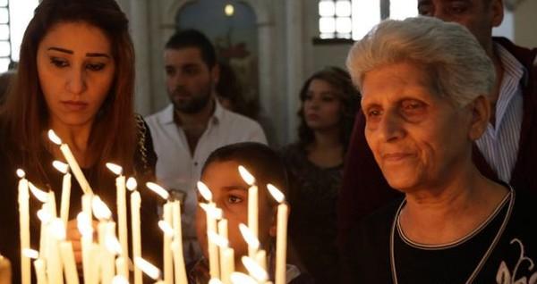 Христиане, живущие в Дамаске, смогли в этом году собраться в церкви Аль-Салиб