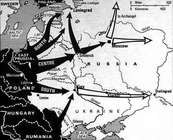 Карта операции «Барбаросса»
