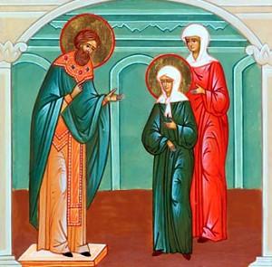Сретение св. блж. Матроны со св. прав. Иоанном Кронштадтским