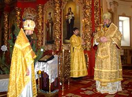 Литургия в Мгарском монастыре