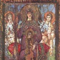 Богоматерь - Царица Небесная. Ранний VIII век. Рим. Базилика Санта Мария ин Траставере