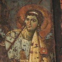 Богоматерь - Царица Небесная. Ангел. Фрагмент