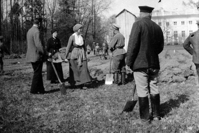 На огороде в Царском селе, 1917 г.