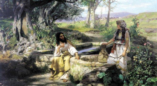 Христос и Самарянка. Генрих Семирадский. 1890