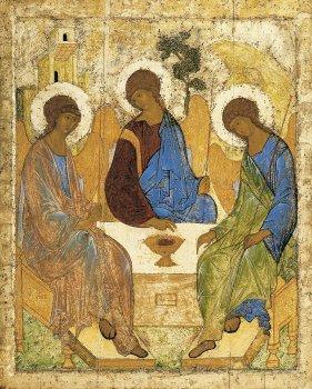 Андрей Рублёв. «Троица». 1411 г.