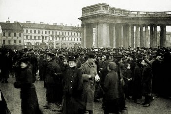 Студенческая демонстрация у Казанского собора 4 марта 1901 г.