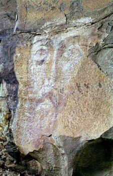 Наскальный Лик Христа. Нижний Архыз, Карачаево-Черкесия
