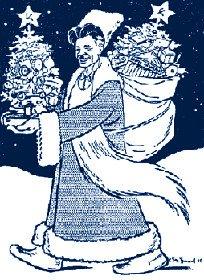 Павел Петрович Постышев в «роли Деда Мороза»