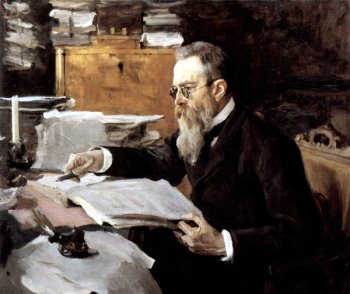 В. А. Серов. Портрет композитора Н. А. Римского-Корсакова. 1898 г.