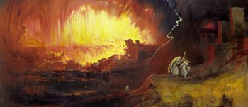 Джон Мартин. Уничтожение Содома и Гоморры. 1852 год