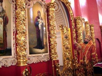 Освящение иконостаса Мгарского монастыря